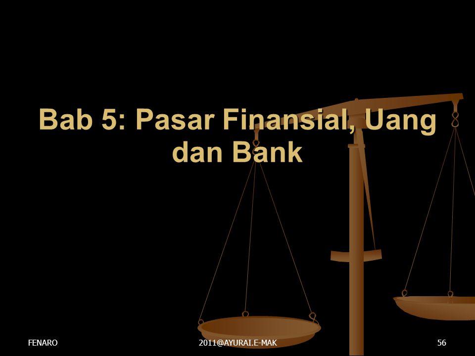 Bab 5: Pasar Finansial, Uang dan Bank FENARO2011@AYURAI.E-MAK56