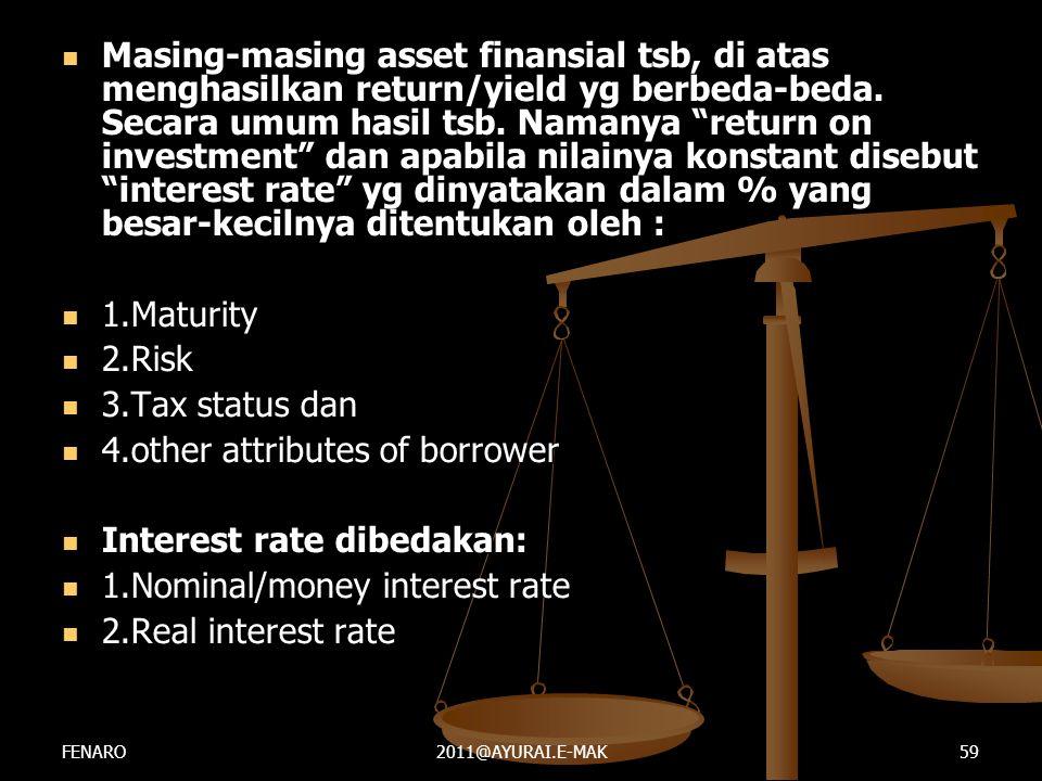 """ Masing-masing asset finansial tsb, di atas menghasilkan return/yield yg berbeda-beda. Secara umum hasil tsb. Namanya """"return on investment"""" dan apab"""
