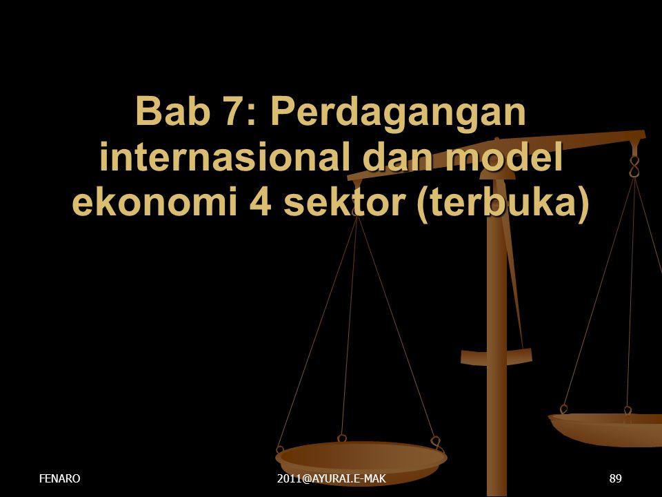 Bab 7: Perdagangan internasional dan model ekonomi 4 sektor (terbuka) FENARO2011@AYURAI.E-MAK89