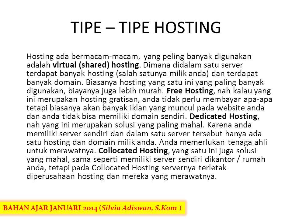  Backup: Apakah hosting anda membackup data anda setiap hari. Ini penting karena ada banyak hosting kurang ajar yang tidak melakukan back up dan apab