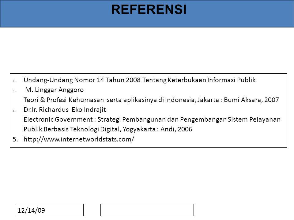 REFERENSI 1. Undang-Undang Nomor 14 Tahun 2008 Tentang Keterbukaan Informasi Publik 2.
