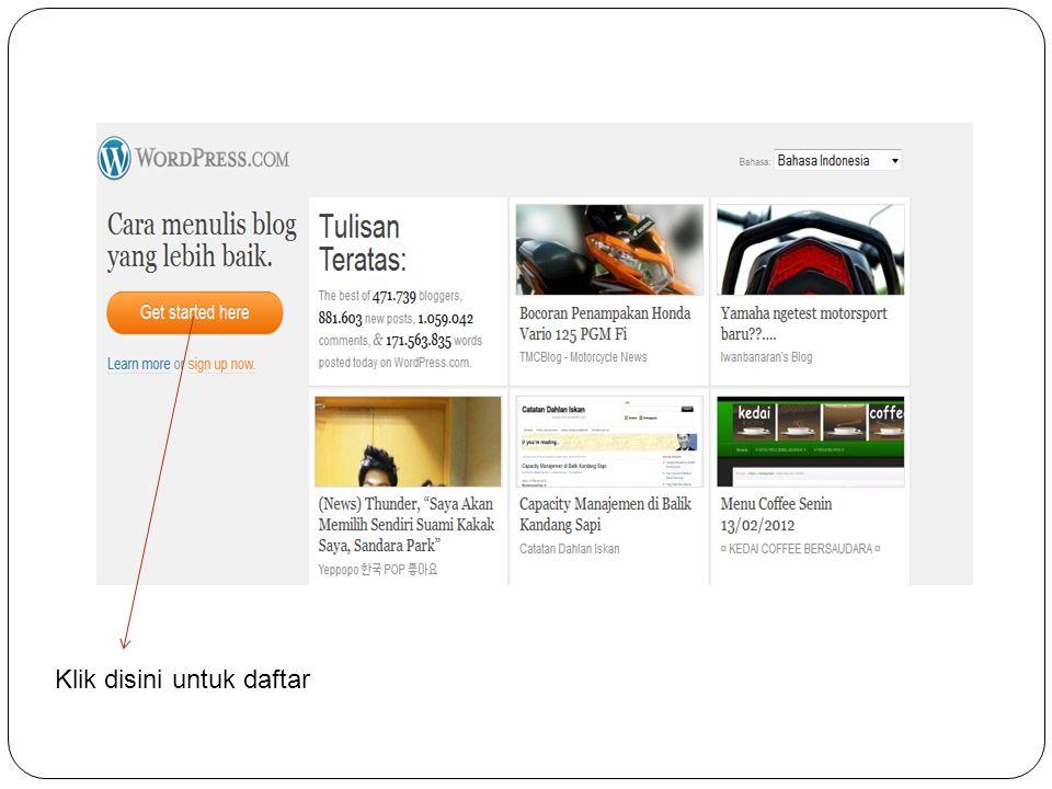  Themes, untuk memilih dan mengaktifkan tema tampilan website/blog yang ingin Anda gunakan.