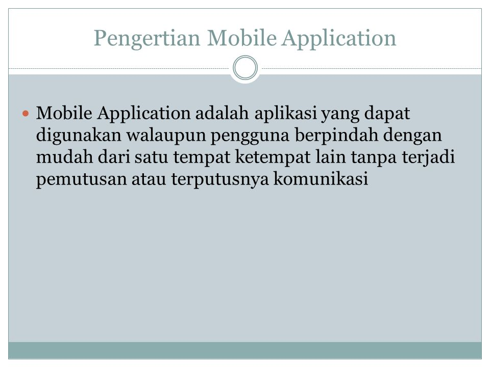 Contoh Mobile Application