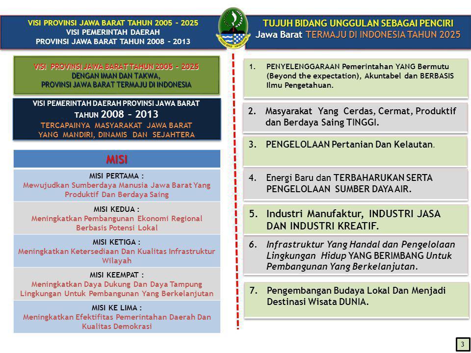 KONSEPSI MANAJEMEN BIROKRASI CERDAS Pemerintah Provinsi Jawa Barat (Deny Juanda P.,2010) Konsep manajemen BIROKRASI CERDAS (SMART BUREAUCRACY) berbasis 3 (tiga) prinsip yaitu : (1)SMART OBJECTIVES (Cerdas dalam Sasaran), (2)SMART PLANNING (Cerdas dalam Perencanaan), (3)QUALITY ORIENTED AND ACCOUNTABILITY (Berorientasi Mutu dan Akuntabilitas) Prasyarat: Insan Birokrat yang harus memiliki INTEGRITAS(Integrity) berderajat TINGGI dan BERMARTABAT (Dignity) Pembuktian: Sistem birokrasi telah dijalankan berdasarkan kaidah ilmu pengetahuan, menuju kriteria MAKE Award ( The Most Admired Knowledge Enterprises) ACCOUNTABILITY (Anderson, UNESCO 2005)  COMPLIANCE WITH REGULATION and  ADHERENCE WITH NORM PROFESSIONAL  QUALITY RESULT DRIVEN SMART OBJECTIVES :  SPESIFIK (SPECIFIC)  TERUKUR (MEASURABLE)  KOMITMEN BERSAMA (AGREED)  REALISTIS (REALISTIC)  DIBATASI OLEH WAKTU (TIME BOUND) QUALITY:.....beyond the EXPECTATION QUALITY:.....beyond the EXPECTATION 14