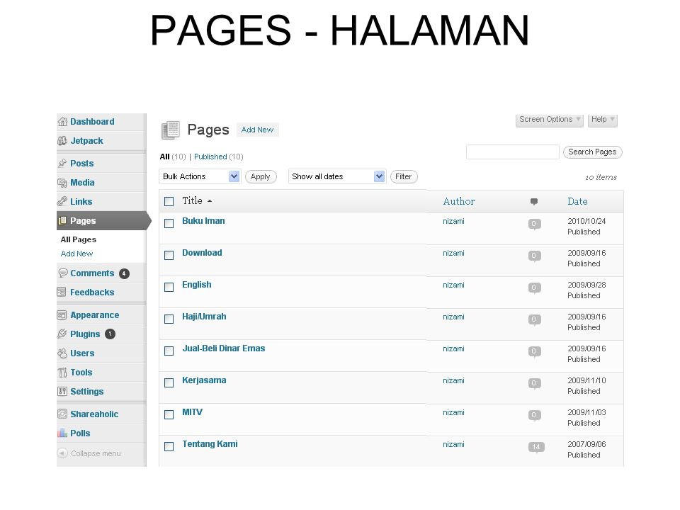 PAGES - HALAMAN