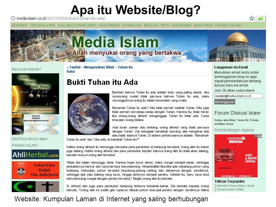 Apa itu Website/Blog Website: Kumpulan Laman di Internet yang saling berhubungan