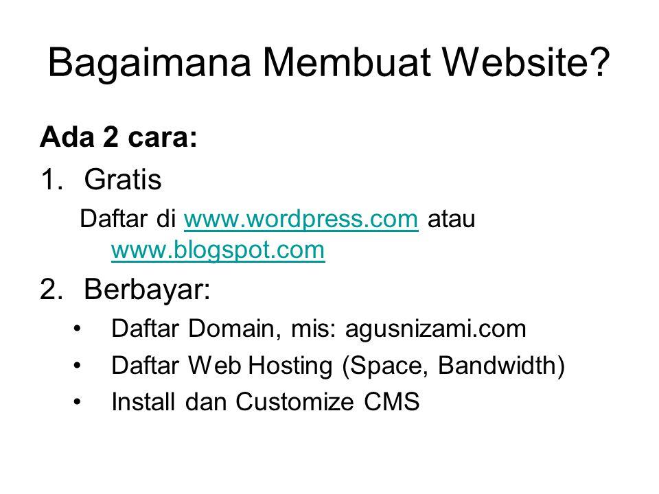 Bagaimana Membuat Website.