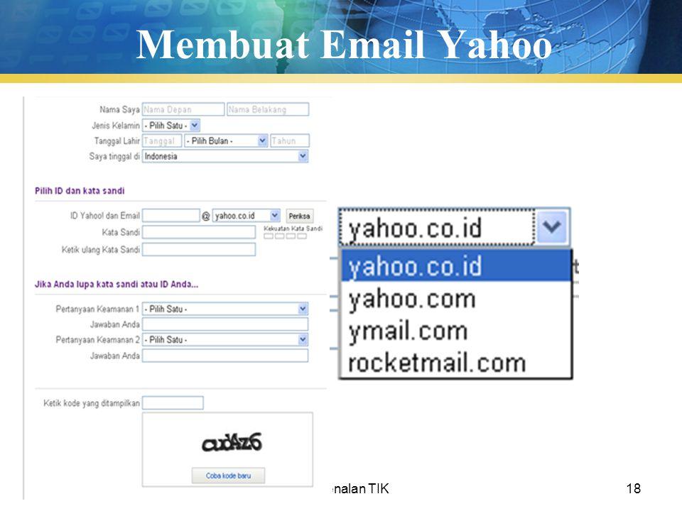 Pengenalan TIK18 Membuat Email Yahoo