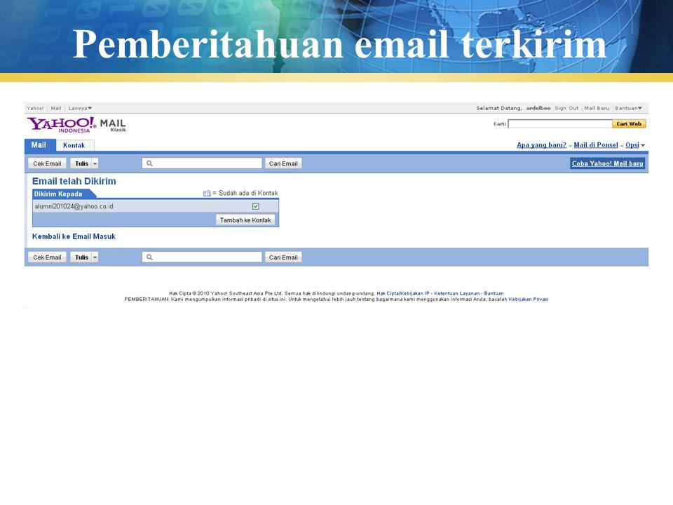 Pengenalan TIK24 Pemberitahuan email terkirim