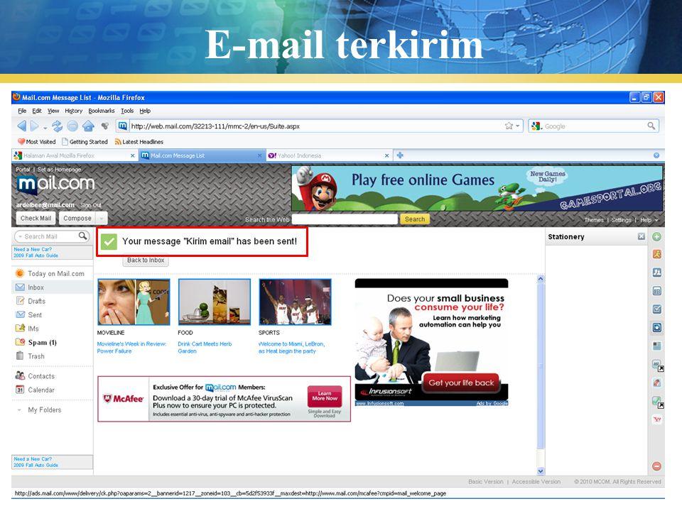 Pengenalan TIK31 E-mail terkirim