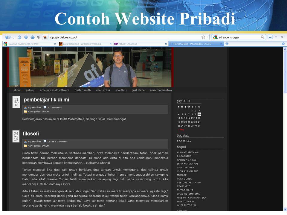 Pengenalan TIK44 Contoh Website Pribadi