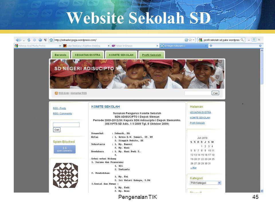 Pengenalan TIK45 Website Sekolah SD