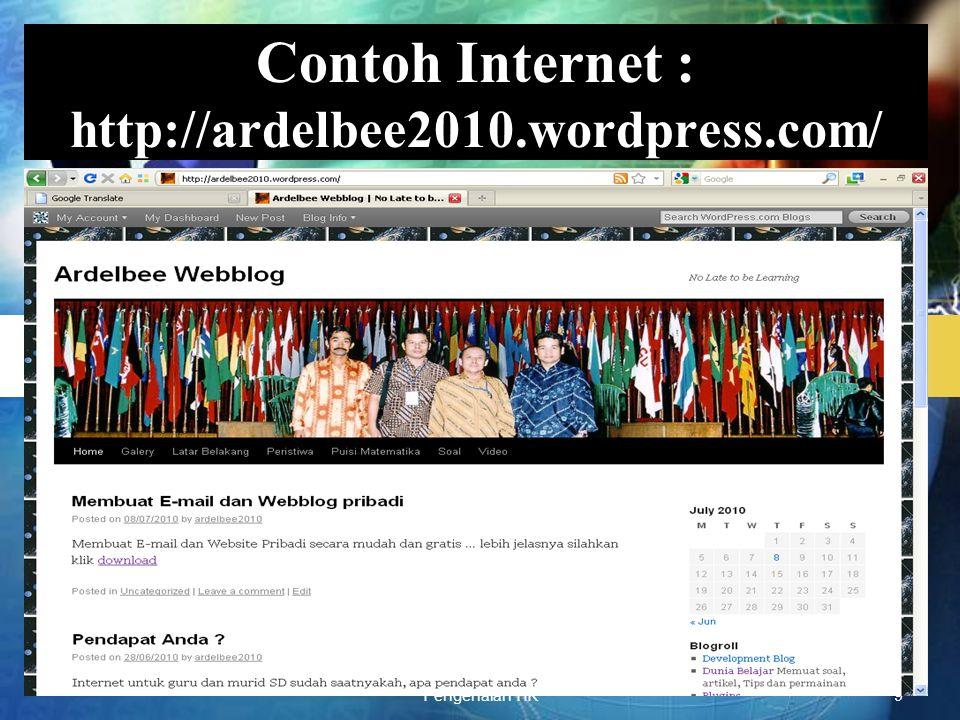 Pengenalan TIK40 Menu Admin Wordpress Menu :
