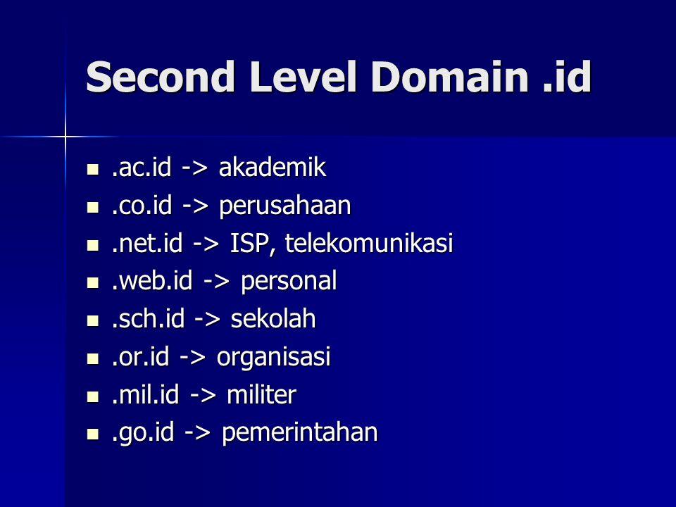 Panduan Memilih Domain (1)  pilihlah nama domain yang mewakili bisnis / produk yang anda pasarkan.