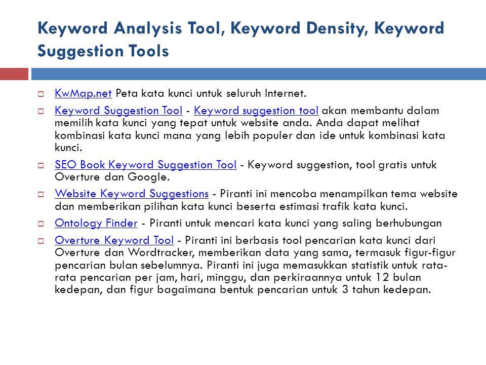 Keyword Analysis Tool, Keyword Density, Keyword Suggestion Tools  KwMap.net Peta kata kunci untuk seluruh Internet.