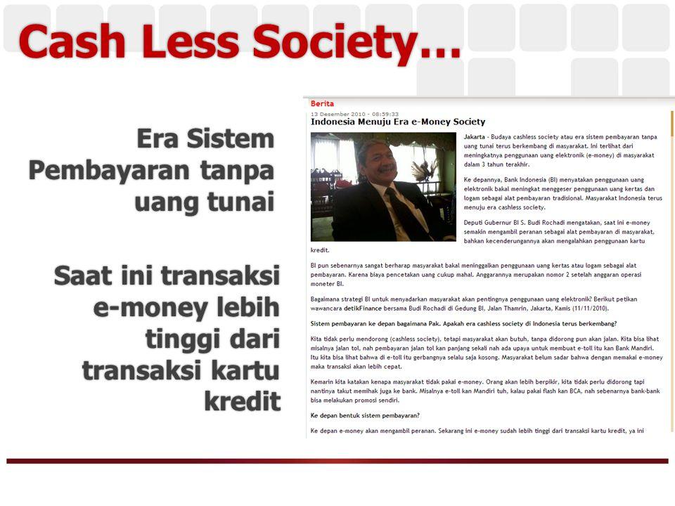 Apakah Uang kertas akan tergantikan…?.