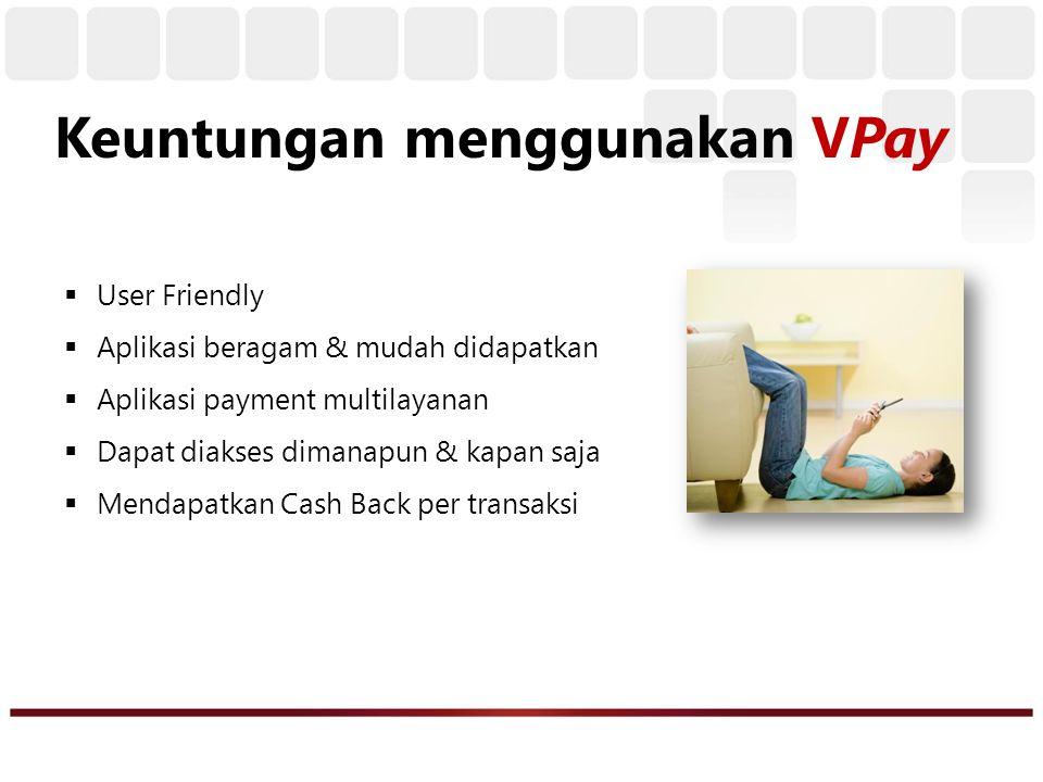 MOBILE BANKING PERSONAL PAYMENT (Pembayaran Tagihan) MEDIA PAYMENT ONLINE (Alat Bayar Online / Internet) ONLINE WEBSTORE Apa yang bisa Anda lakukan dengan VPay..???
