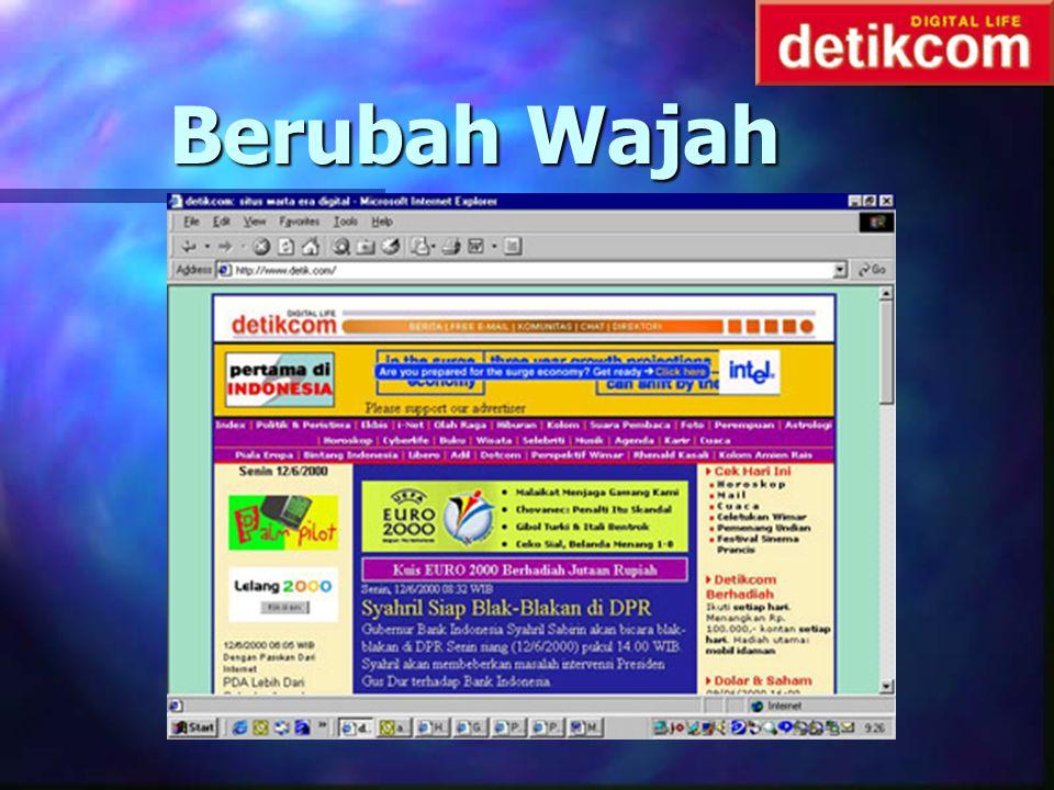 Babak Penting II n 20 Januari : free email, chat, direktori, dll n 1 Feb 2000: chanel n 9 Feb 2000: Berubah Menjadi Portal