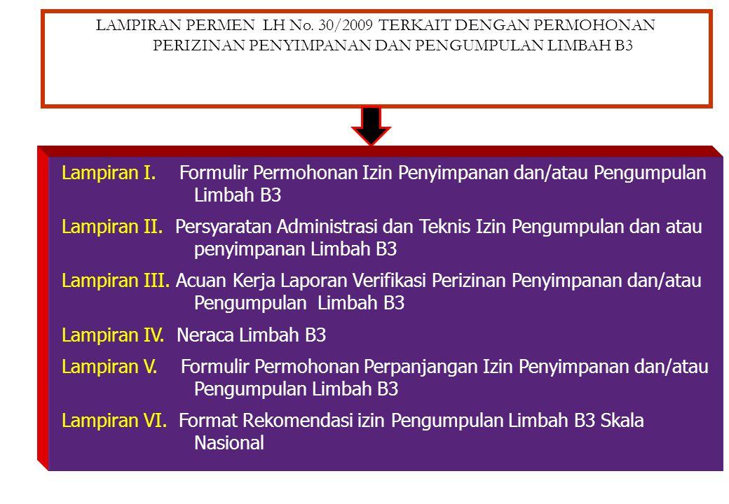 FORMULIR PERMOHONAN PERIZINAN PENGELOLAAN LIMBAHB3 (Lampiran Permen LH 18/2009) Lampiran I. Formulir Permohonan Rekomendasi Pengangkutan Limbah B3 Lam