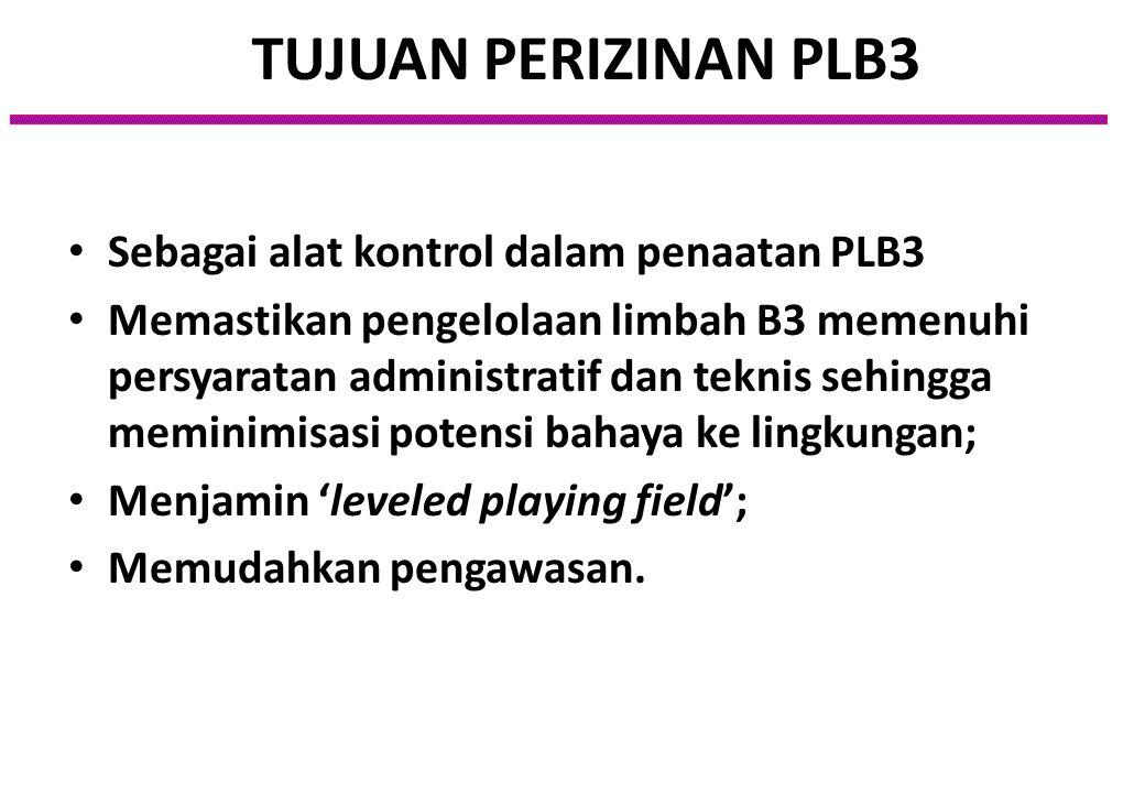Pasal 2 Permen LH No. 18/2009 Tentang Tata Cara Perizinan Pengelolaan Limbah B3 : Penghasil limbah B3 tidak dapat melakukan kegiatan pengumpulan limba