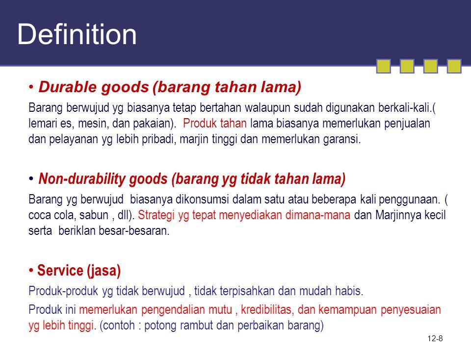 12-9 Klasifikasi Barang Konsumen Convenience/barang Sehari-hari.