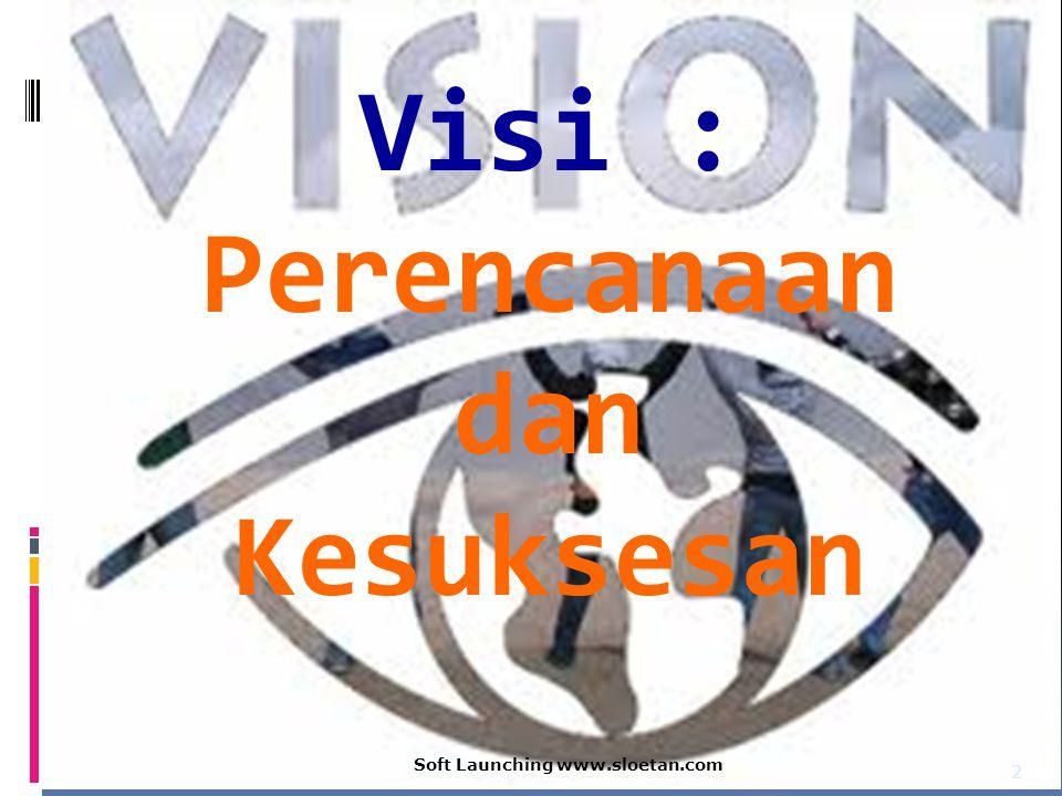 2 Soft Launching www.sloetan.com Visi : Perencanaan dan Kesuksesan