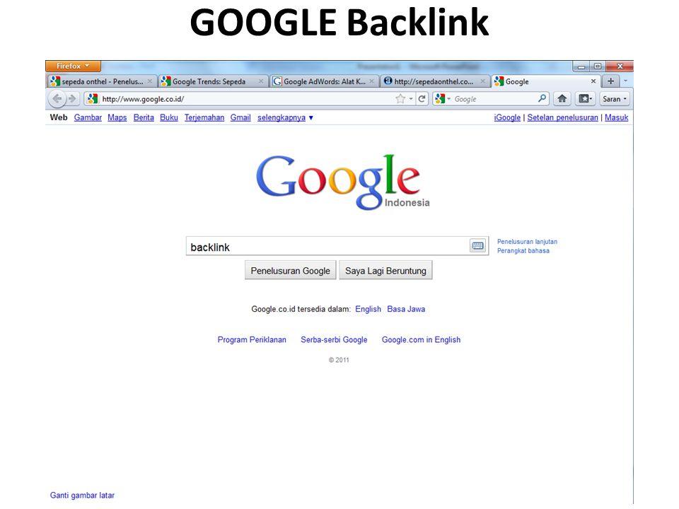 GOOGLE Backlink