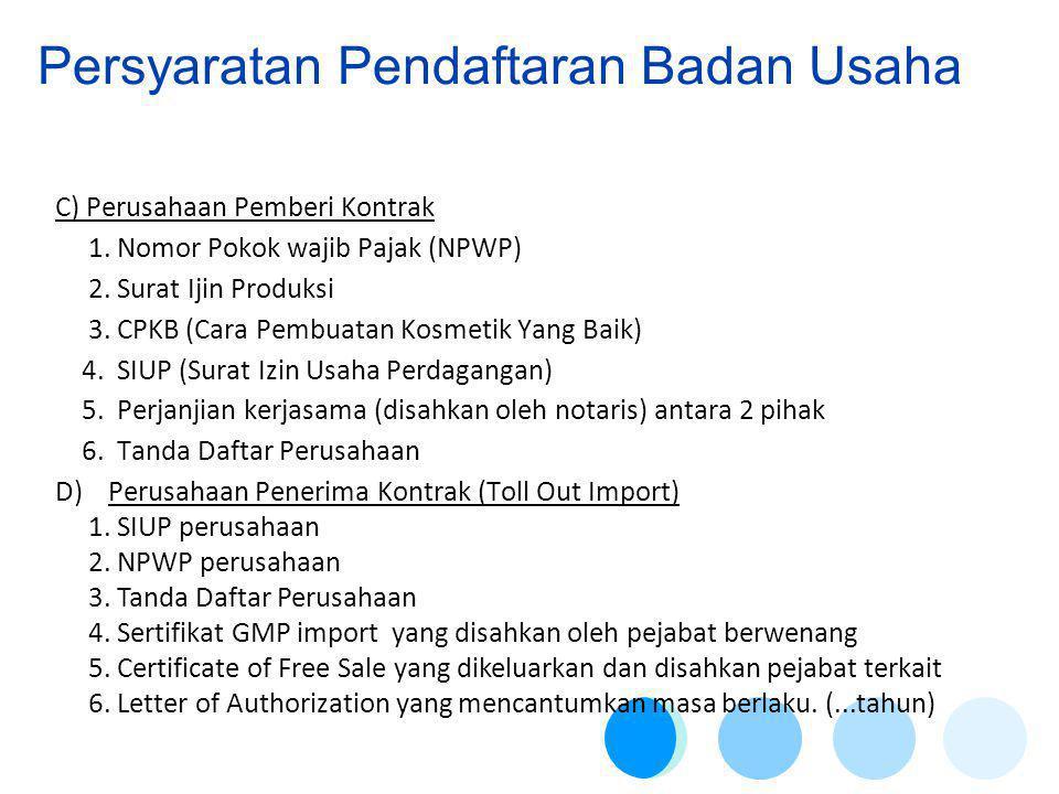 C) Perusahaan Pemberi Kontrak 1.Nomor Pokok wajib Pajak (NPWP) 2.