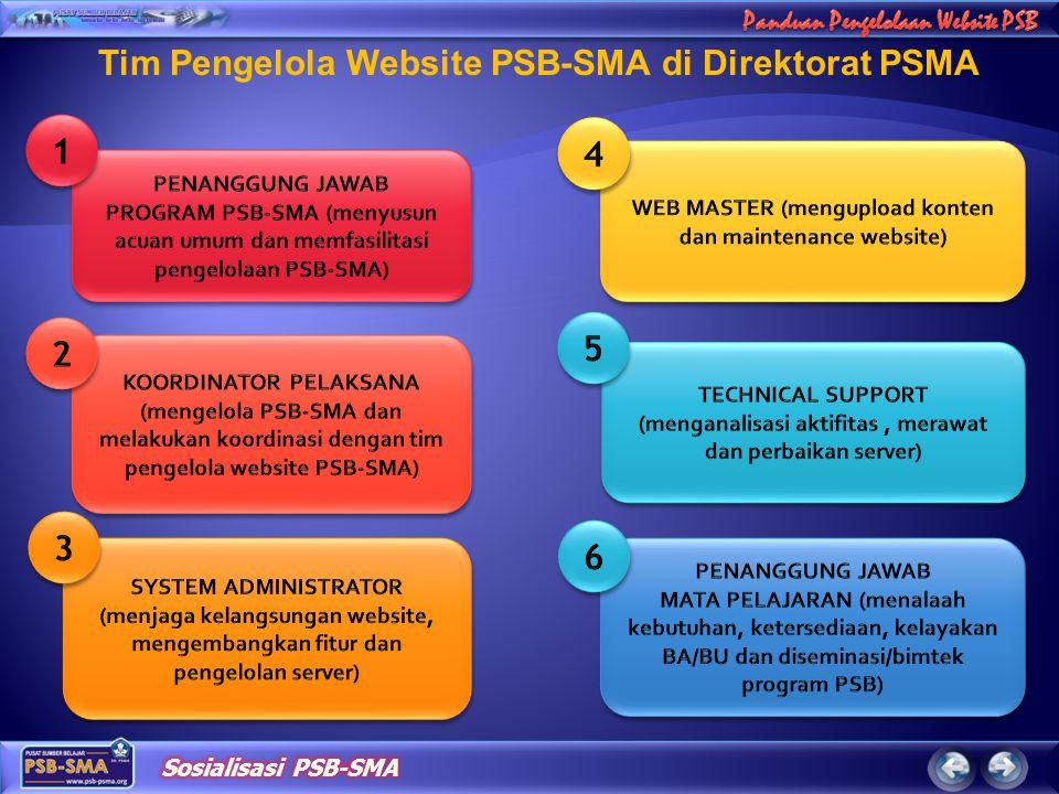 Tim Pengelola Website PSB-SMA di Direktorat PSMA