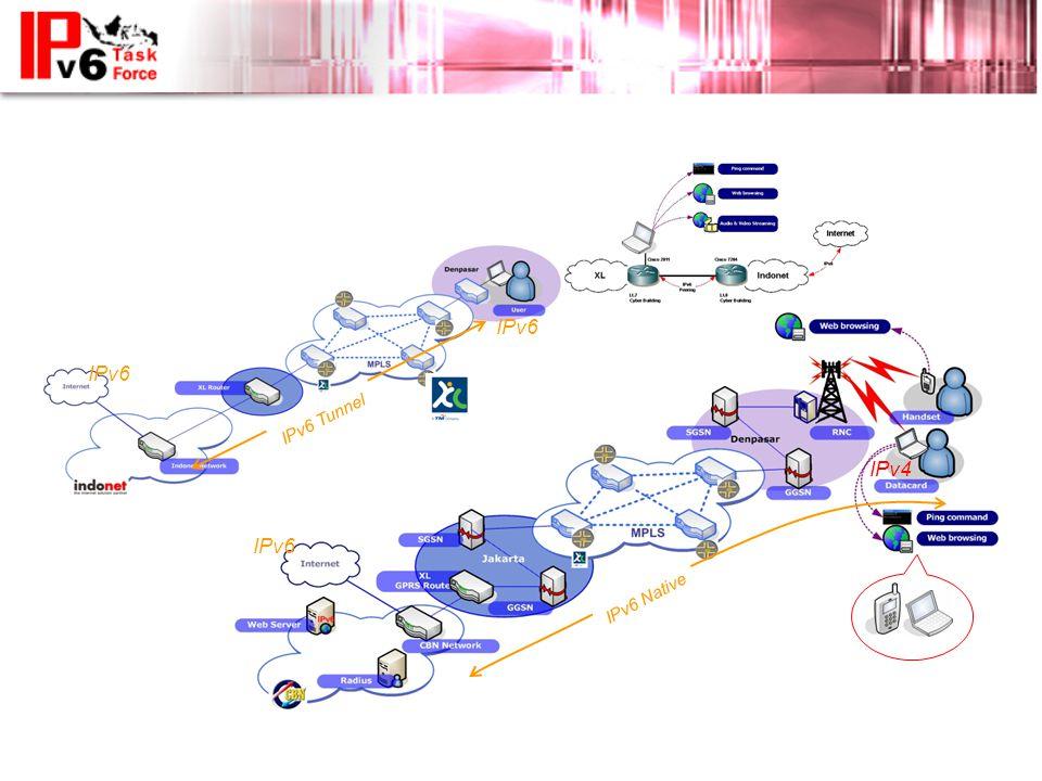 IPv6 Native IPv6 Tunnel IPv6 IPv4