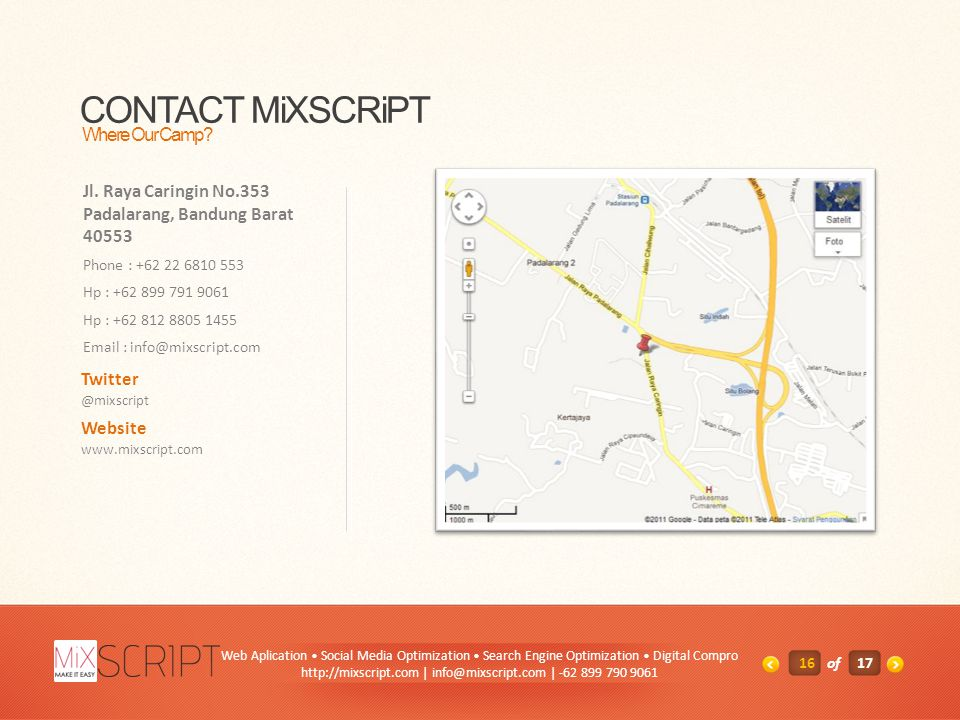 CONTACT MiXSCRiPT Where Our Camp. Jl.