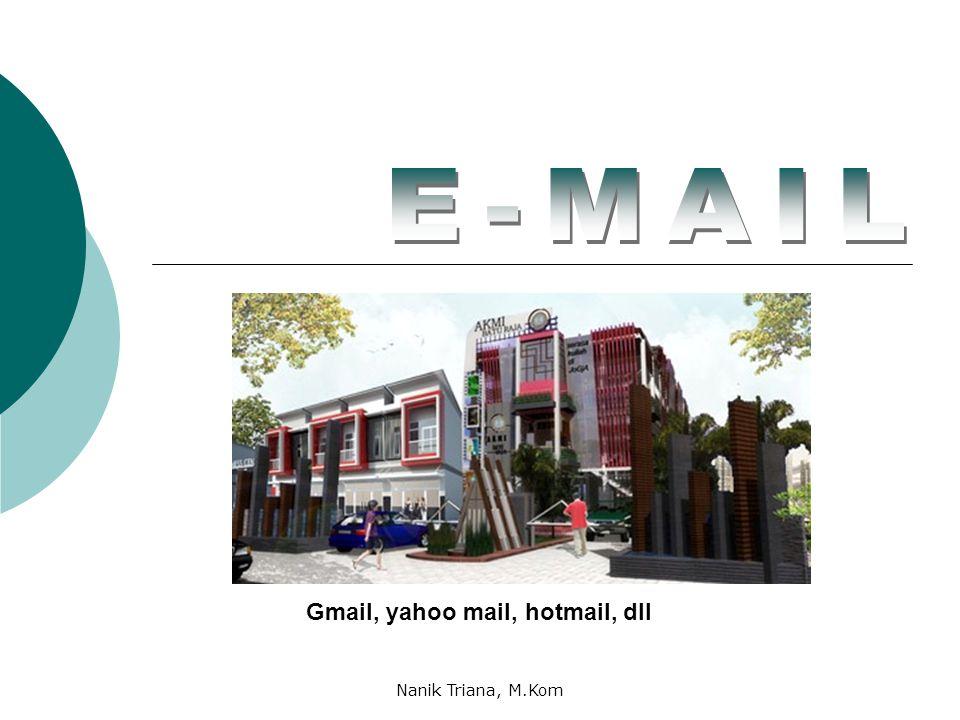 Gmail, yahoo mail, hotmail, dll Nanik Triana, M.Kom