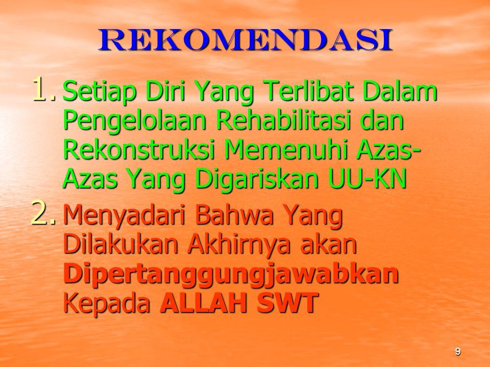 9 rekomendasi 1.