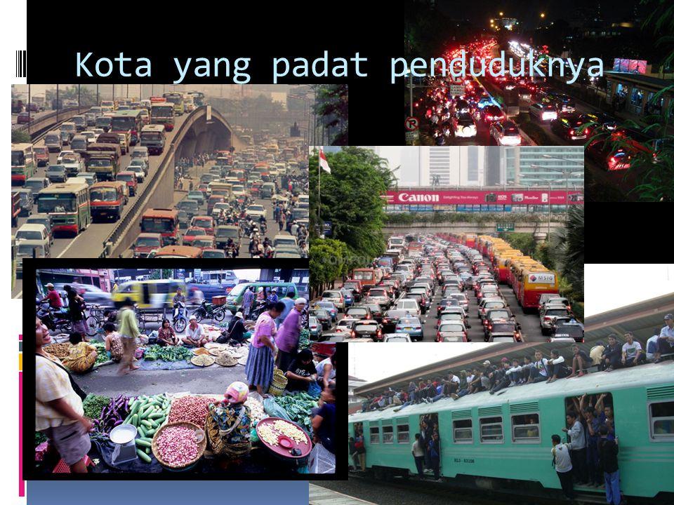 Kota yang padat penduduknya