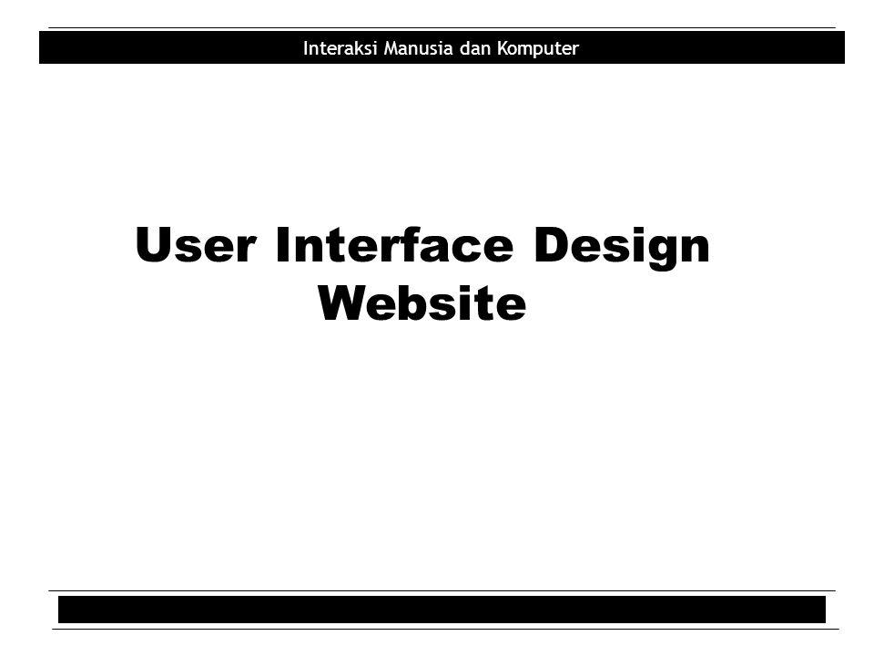 Interaksi Manusia dan Komputer User Interface Design Website
