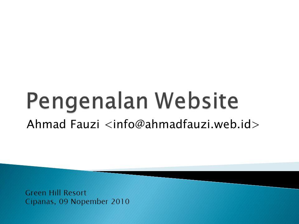 Pengenalan Website  Jenis Website  Nama Domain  Tipe Domain  Pengenalan Webserver  Pengenalan Database MySQL  Pengenalan PHP  Pengenalan PHPMyAdmin  XAMPP
