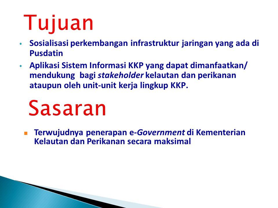 Latar Belakang •Implemnetasi Penerapan e-Government di KKP •Pusdatin – KKP memiliki infrastruktur jaringan komunikasi yang semakin tahun menunjukkan p