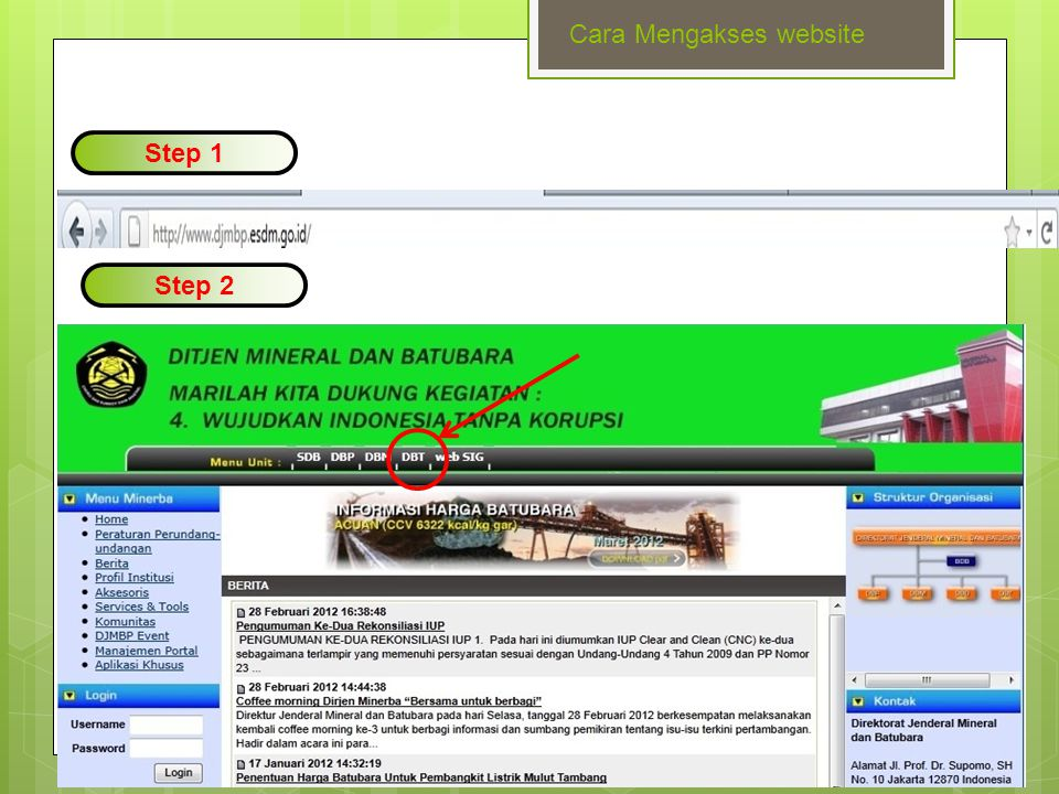 www.themegallery.com Step 3 Cara Mengakses website