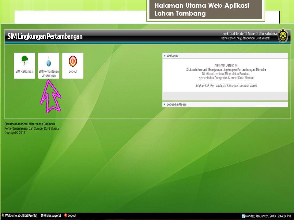 SIM Pemantauan Lingkungan Klik di nama perusahaan