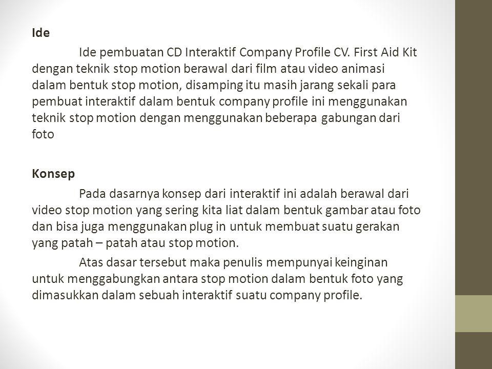 Ide Ide pembuatan CD Interaktif Company Profile CV.