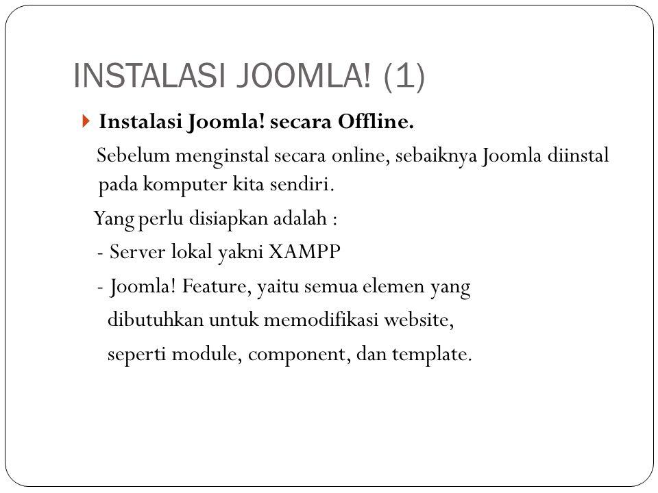  Instalasi Joomla. secara Offline.