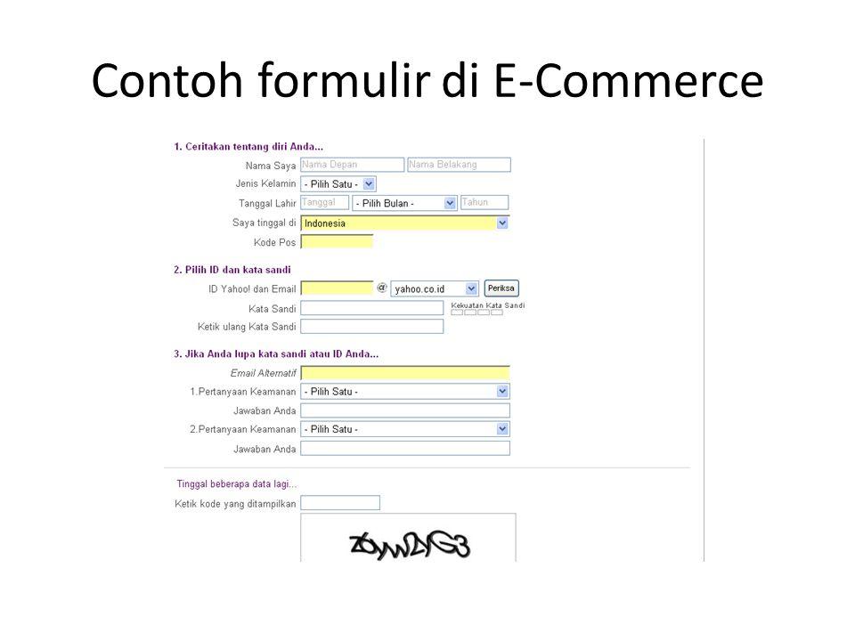 Contoh formulir di E-Commerce