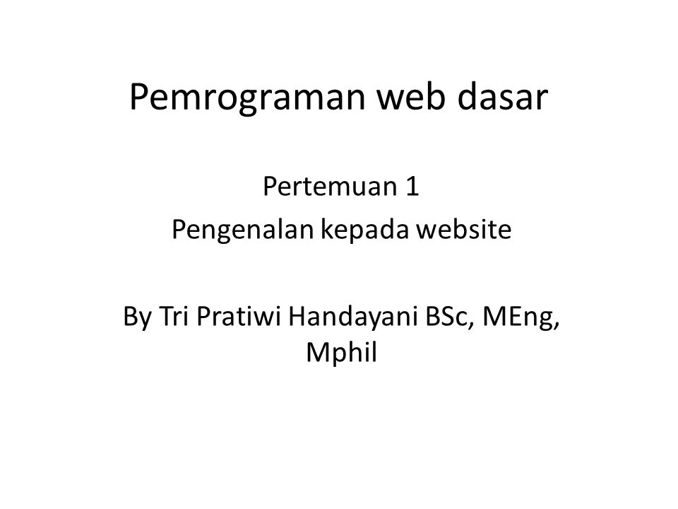 Komunikasi website