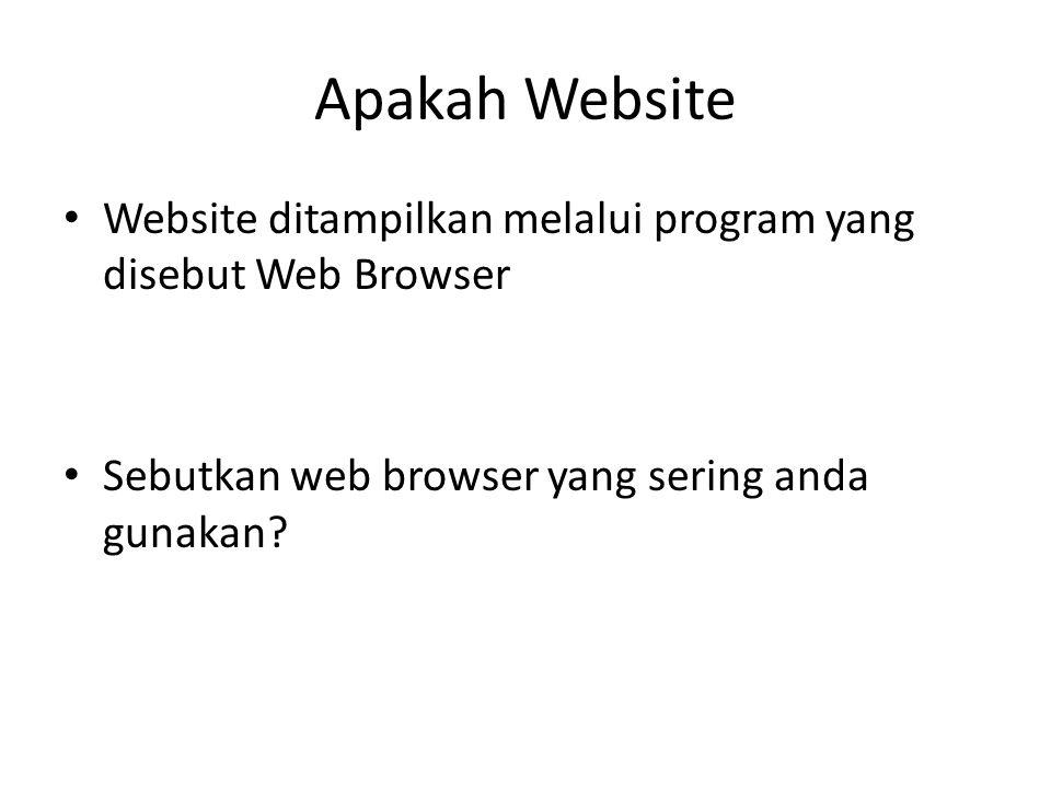 Apakah website • Web browser • Apakah perbedaan dari web browser ini?