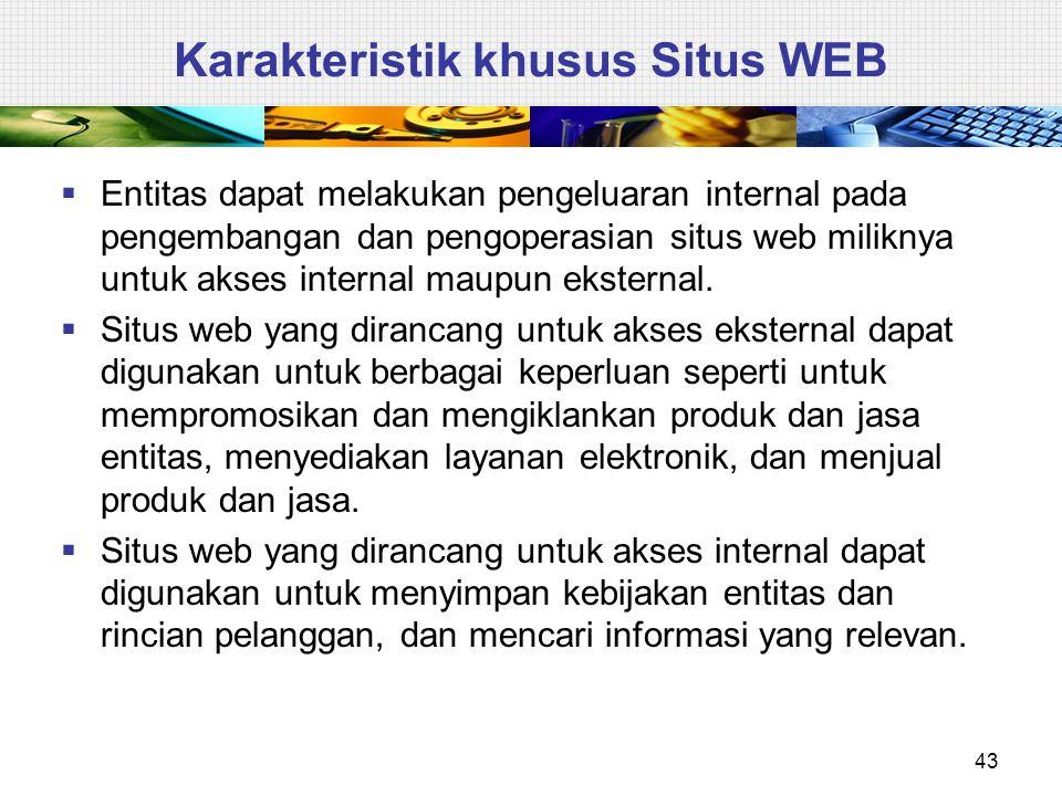  Entitas dapat melakukan pengeluaran internal pada pengembangan dan pengoperasian situs web miliknya untuk akses internal maupun eksternal.  Situs w