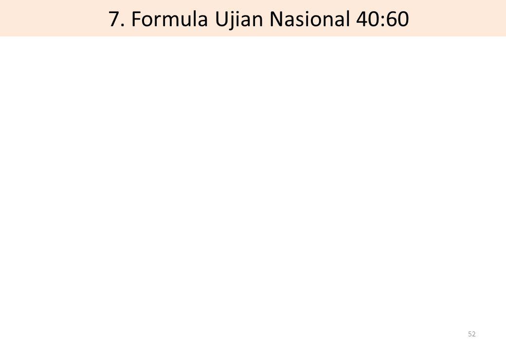 7. Formula Ujian Nasional 40:60 52