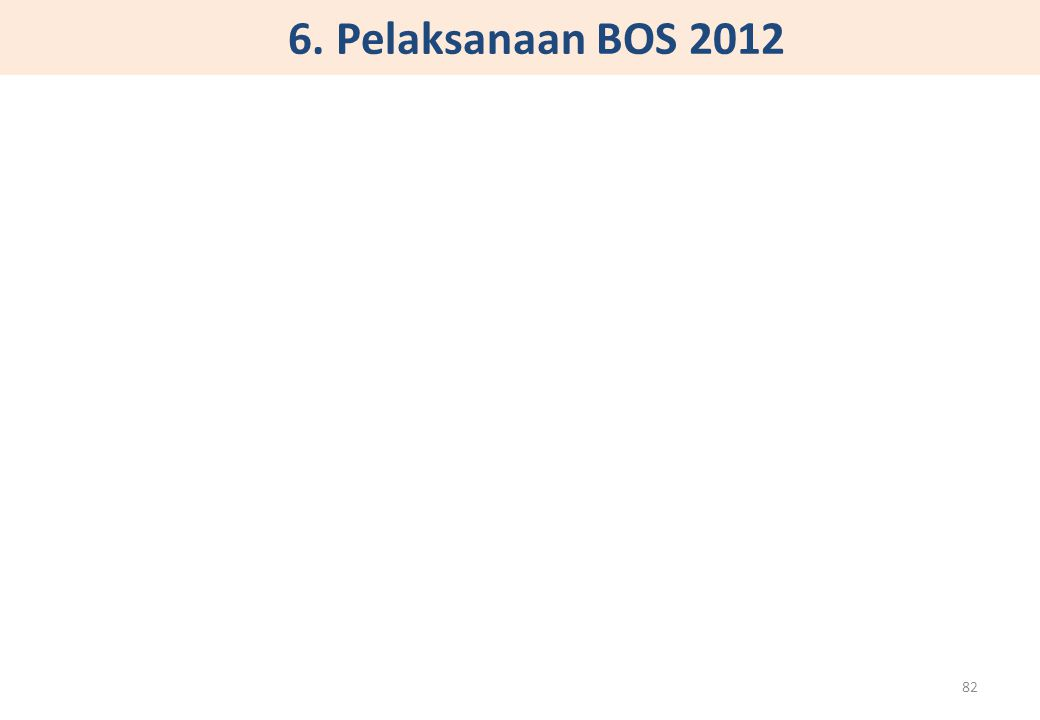 6. Pelaksanaan BOS 2012 82