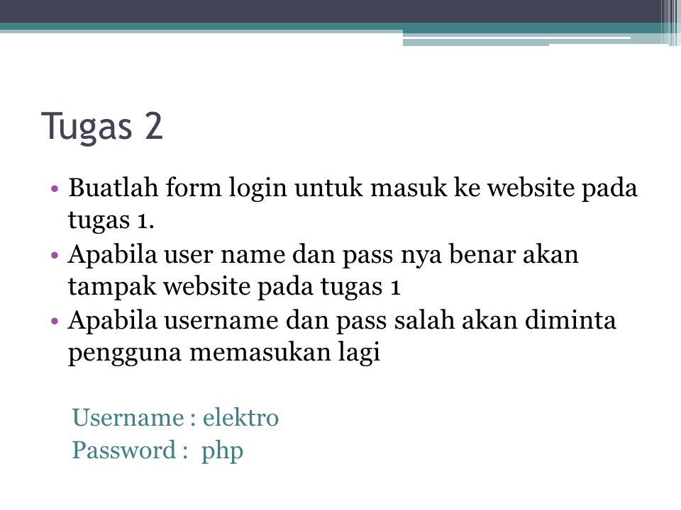 Tugas 3 •Buatlah sebuah aplikasi untuk menampilkan website counter yang menunjukan seringnya website tersebut diakses •Buatlah sebuah aplikasi untuk mengolah form buku tamu pada tugas 1 ▫Simpan data yang dimasukan dalam sebuah file.dat ▫Buatlah skrip php untuk menampilkan data buku tamu yang sudah dimasukan.