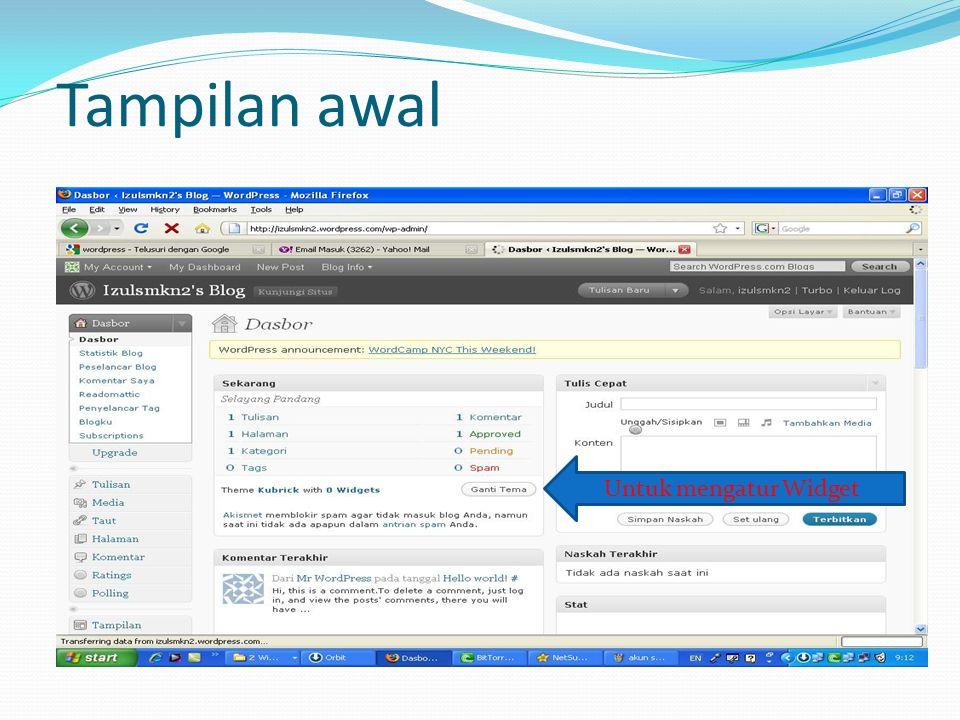 Gambar Widget di Wordpress TampilanTampilan