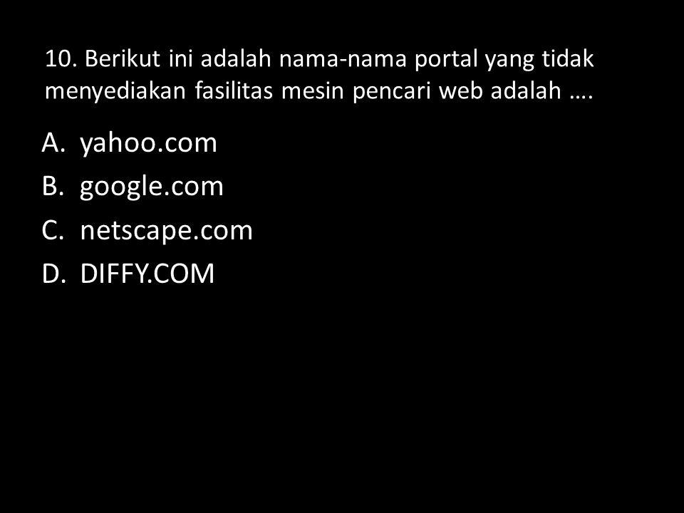 7. Fungsi mesin pencari yang dimiliki situs-situs tertentu adalah …. A.menemukan alamat URL dari sebuah informasi atau situs B.MENEMUKAN INFORMASI YAN